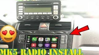 The Best VW  Mk6/Mk5/JETTA App Radio Head Unit RCD330 : Install + Review
