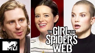 The Girl In The Spider's Web Cast Go Speed Dating & Talk Bondage Suit | MTV Movies
