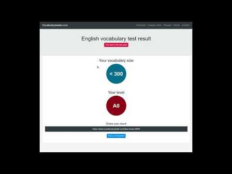 English vocabulary size test