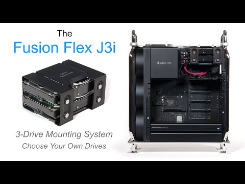 Fusion Flex J3i 3-Drive Mounting System for 2019 Mac Pro Product Overview