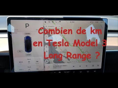 Test de distance et taille de batterie de la Tesla Model 3 LR