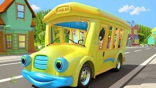 Wheels On The Bus | Kindergarten Nursery Rhymes For Children | Cartoon Song By Little Treehouse
