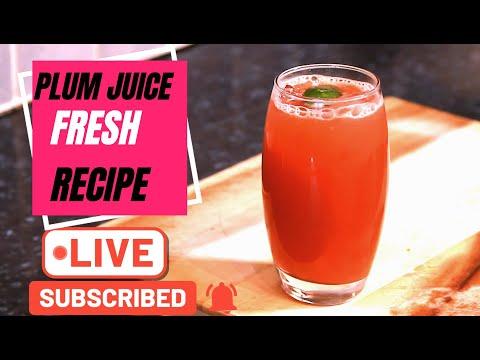 Fresh Plum Juice  Recipe | Chef Ricardo Cooking ( Part 1 )