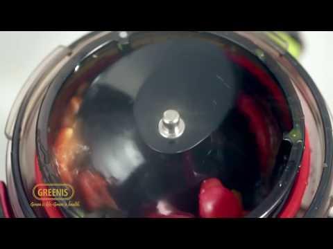 Extractor de zumos Greenis F-9010, color plata