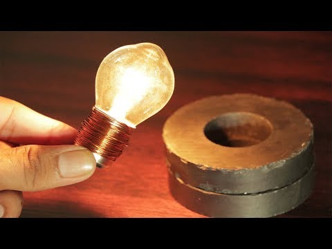 Free energy experiment using Magnet Copper coil
