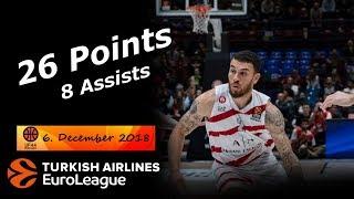 Mike James Full Highlights 06.12.2018 AX Milan vs Gran Canaria - 26 Pts, 8 Asts!   UF44 Highlights