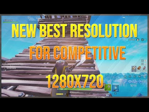 1280x720 Is The New Best Resolution For Competitive Fortnite | Arena Mode Solos