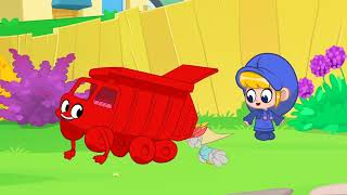 Morphle Takes Out The Trash | My Red Garbage Truck | Kids Cartoon | Mila and Morphle