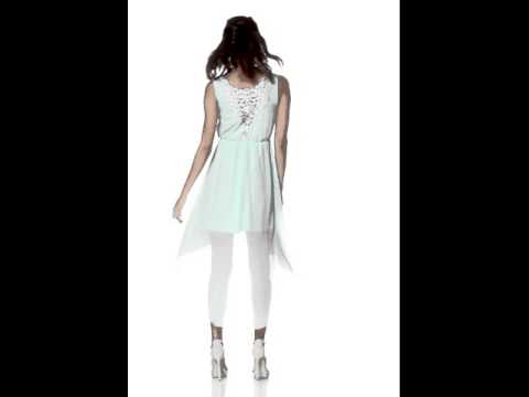 Kleid mit Spitzeneinsatz im Rücken, mint/Robe avec empiècement dentelle au dos, mint