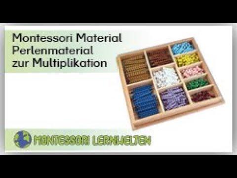 Erläuterungen zum Material:  Perlenmaterial zur Multiplikation