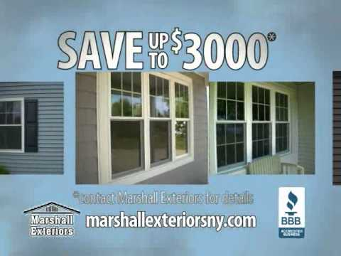 TV commercial for Marshall Exteriors featuring replacement windows.