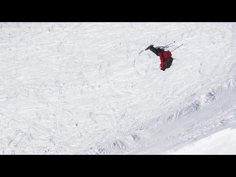 Professional Skier Pulls Off Crazy Tricks