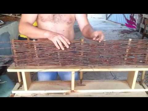 Profi macht einen Weidenzaun... / Handmade willow fence