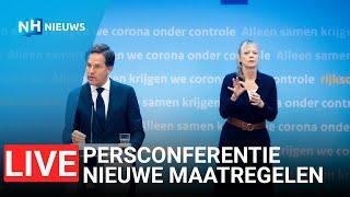 LIVE ?Persconferentie Rutte en De Jonge, nieuwe maatregelen verwacht