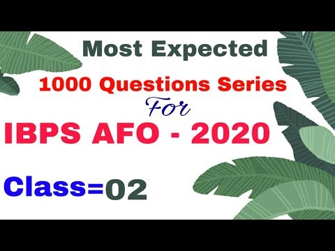 Agriculture field officer IBPS   IBPS SO   IBPS AFO 2020   Agriculture Current Affairs