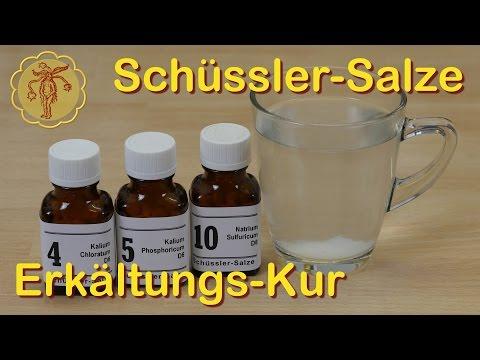 Schüssler-Salze Erkältungskur