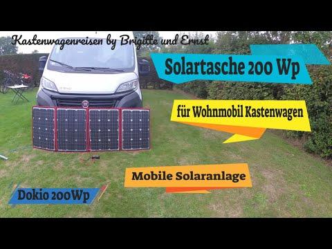 Solartasche 200 Watt Solar für Wohnmobile und Camping