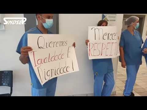 GRITO DOS HOSPITAIS: Profissionais do Hospital Saboya fazem protesto pela vacina