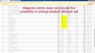 How to Massively Change Magento Product Attribute Set