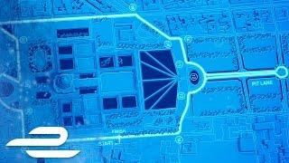 Qatar Airways Paris ePrix Track Map - Formula E