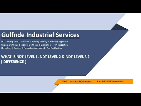 What is NDT Level 1, 2 & 3 ? Difference, Role & Responsibility as ...