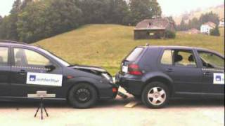 1999 Volkswagen Golf IV Vs. 1999 Ford Focus Wagon Low-Speed Rear Impact