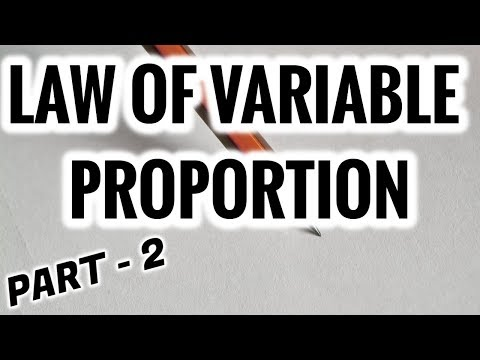 LAW OF VARIABLE PROPORTION - PART 2