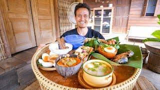 Green Bamboo Curry!! VILLAGE THAI FOOD in Sukhothai, Thailand! 🇹🇭 บ้านนาต้นจั่น
