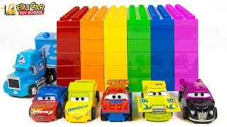 Learning Color numbers Disney Cars Lightning McQueen Mack Truck Lego Play for kids toys