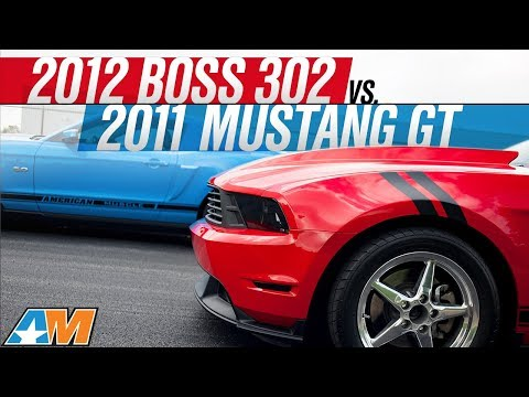 2012 Boss 302 vs 2011 Mustang GT Drag Race