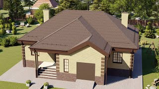 Проект дома 196-A, Площадь дома: 196 м2, Размер дома:  18,8x17,6 м