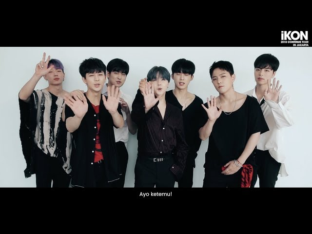 Official Greetings Ikon 2018 Continue Tour In Jakarta