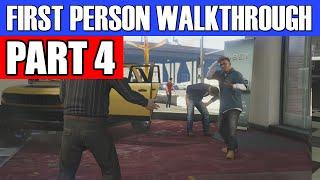 GTA 5 First Person Gameplay Walkthrough Part 4 - KAMIKAZE!!! | Grand Theft Auto 5 First Person