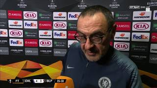 Sarri: I Expected A Tough Second Half | Post-match Reaction From Chelsea Vs Slavia Prague