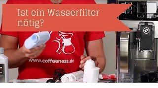 Ist ein Wasserfilter für einen Kaffeevollautomaten nötig?