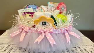 How To Make A DIY Baby Shower Gift Basket!