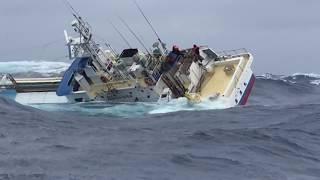 Kapal Jepang Terbalik 2018 Pertempuran Melawan Badai