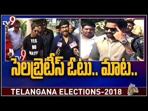 Celebrities cast votes and being role model to voters - TV9