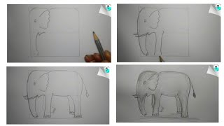 How To Draw An Elephant Easy (7 Art)