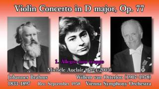Brahms: Violin Concerto, Auclair & Otterloo (1958) ブラームス ヴァイオリン協奏曲 オークレール