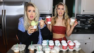 TRYING EVERY SINGLE STARBUCKS HOLIDAY DRINK.. (disgusting)