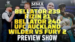 MMA Fighting Preview Show: UFC Auckland, Bellator, Wilder vs. Fury 2, and More