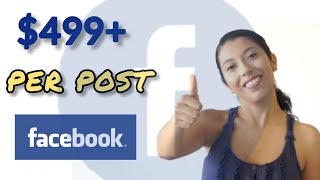 Get Free $499+ For 1 Post On Facebook | How To Make Money From Facebook in 2020