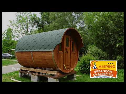 Dormir dans un tonneau au camping de Besançon Chalezeule