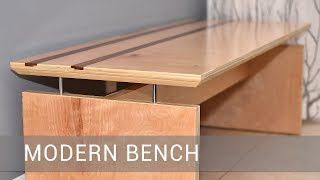 Modern Bench With A FLOATING TOP | Kholo.pk