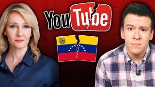 Gambar cover J.K. Rowling Promotes Fake News, YouTuber Loses Scholarship Over Video, and Venezuela In Chaos