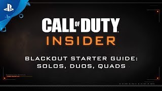"""Call of Duty: Black Ops 4 – Blackout """"Solos, Duos, Quads"""" 