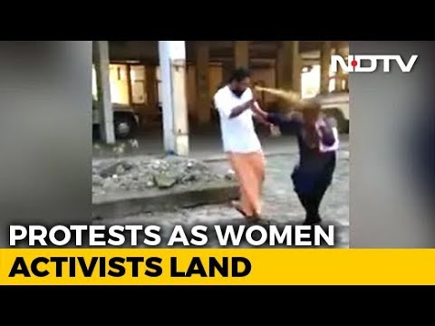 On Camera, Woman Activist On Way To Sabarimala Attacked With Pepper Spray