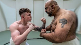 JOE WELLER VS A SUMO WRESTLER