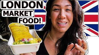 German & American Try Food At Borough Market In London, England!